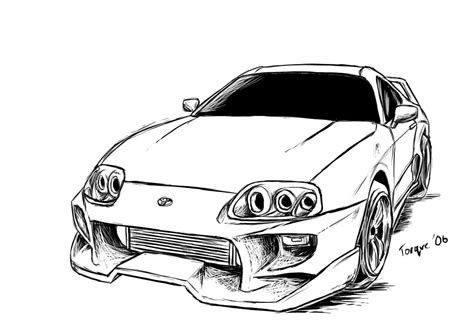 Toyota Supra Drawing Toyota Supra By Joelcomics On Deviantart