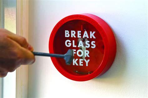 breaker glass circular glass key box holder seton uk