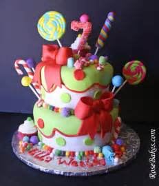 holly jolly christmas candy birthday cake