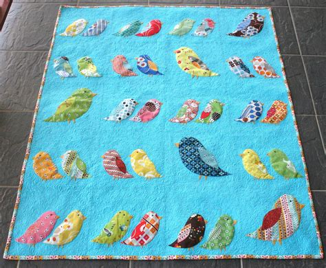 Quilt Patterns With Birds by Aussie Quilting Birds Of A Feather Quilt Finished