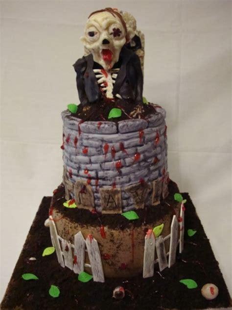 zombie cake tutorial zombie cake cakecentral com