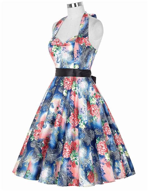 sixties swing dresses real picture 50s rockabilly dresses floral print retro