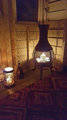 chiminea in garage thinking about bringing the chiminea inside instead of