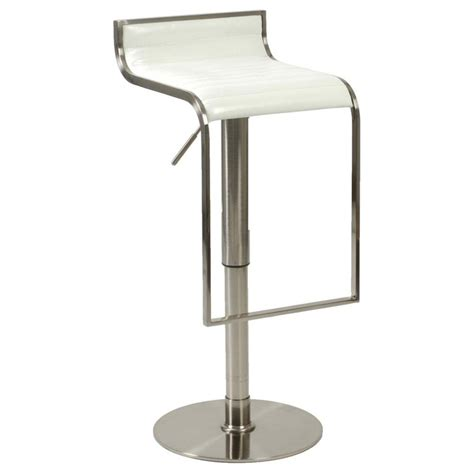 Counter Bar Stools Forest Adjustable Bar Counter Stool White Satin Nickel