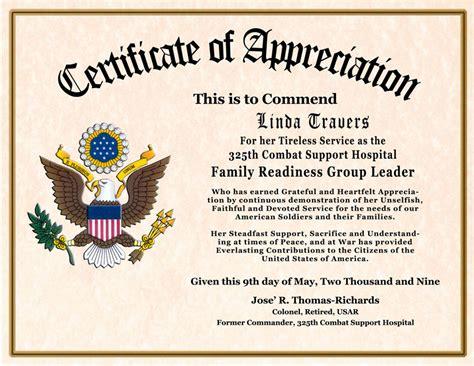 Custom Designed Military Certificates
