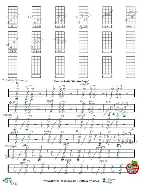 charlie puth marvin gaye chord charlie puth marvin gaye free ukulele tab by jeffrey thomas