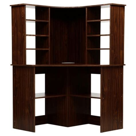 Fraser Corner Desk Buy Fraser Corner Desk With Hutch Walnut From Our Office Desks Tables Range Tesco