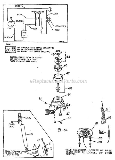 Oster Kitchen Center Parts List by Oster 4093 8 Parts List And Diagram Ereplacementparts