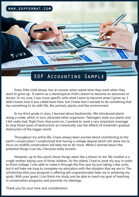 Statement Of Purpose For Mba Accounting by Writing Guide To Write The Best Sop Accounting Easily