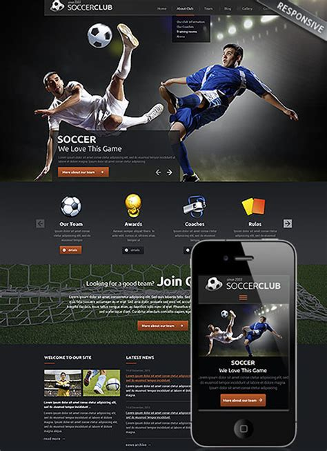 soccer club wordpress theme best website templates