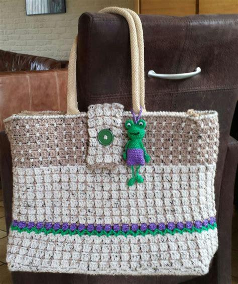 Tas Handbags Flower Tas Jinjing Flower Kianinaz10 recycling crocheted bag with flowers and a frog crochet ah bag recycling