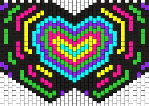 kandi mask pattern with numbers heart kandi mask