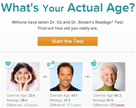 Find Out Your Real Age by How Are You Really Take The Real Age Test To Find Out