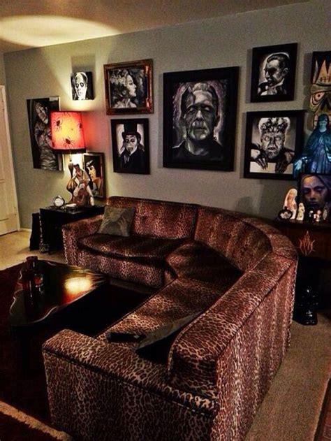 leopard room ideas goth living room decor not too sure about the leopard