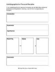 personal narrative template autobiographical or personal narrative writing template