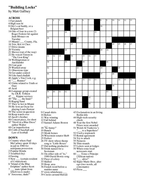 free printable crossword puzzles free printable crossword puzzles
