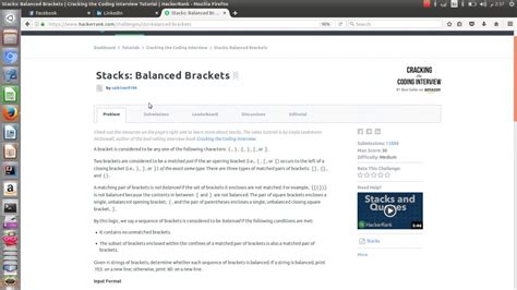 java pattern escape bracket stacks balanced brackets java tutorial youtube