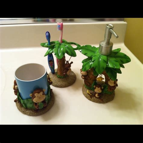 monkey bathroom accessories monkey bathroom decor kids bathroom or half bath