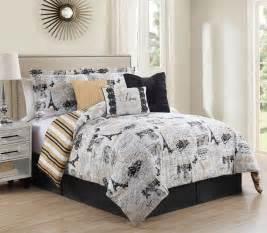7 piece king oh la la reversible comforter set