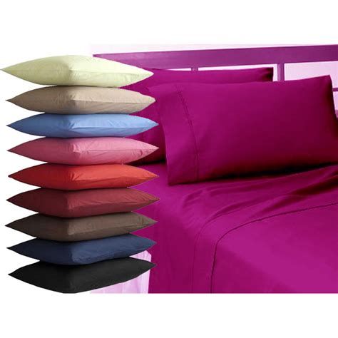 Pillow Manufacturers Uk by Plain Dyed Pair Pillow Cases Cover Standard Quality
