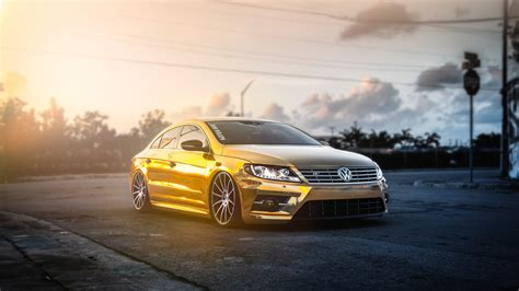 volkswagen background golden volkswagen pasat hd cars 4k wallpapers images