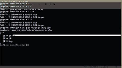 tutorial php cli php tutorial command line scripts part 01 arguments