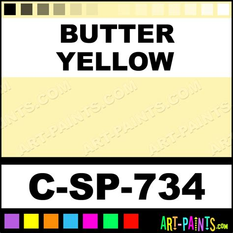 butter yellow 700 series opaque gloss ceramic paints c sp 734 butter yellow paint butter