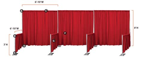 pipe and drape booth trade show booth design ideas and information georgia