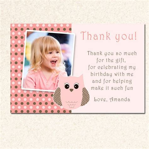 Thank You Card Template For Birthday Giveaways by 17 Best Ideas About Thank You Card Wording On
