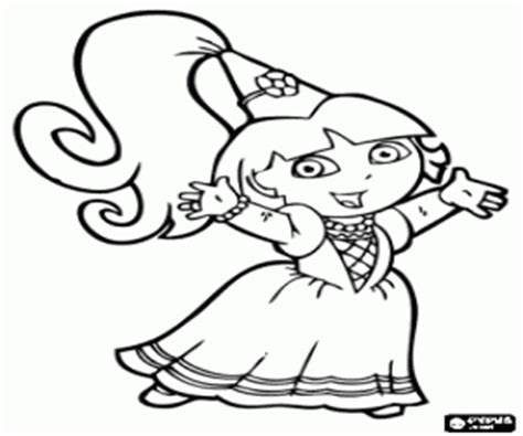 dora the explorer coloring pages printable games