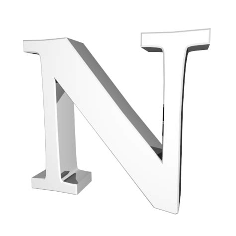 Character With Letter N N Alphabet N Alphabet 3d Word Illustrations Free Letter Image