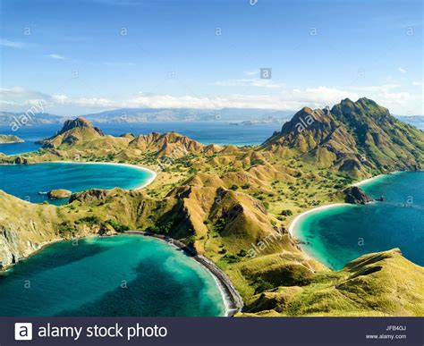 batik air jakarta labuan bajo aerial view of pulau padar island in between komodo and