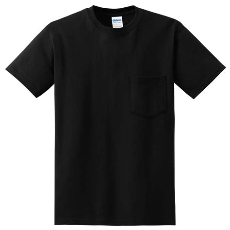 Pocket Black gildan 2300 ultra cotton t shirt with pocket black