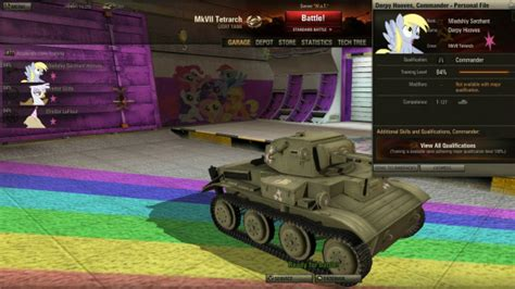 pony overhaul package mods addons world of tanks official forum my little pony mod compilation brings true horror of war