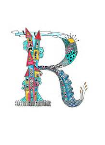 D Room Designer Free - cute multi coloured tiny town letter r a4 print seed print studio madeit com au