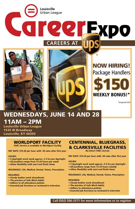 Career Expo: Careers at UPS - Louisville Urban League Ups Jobs Employment