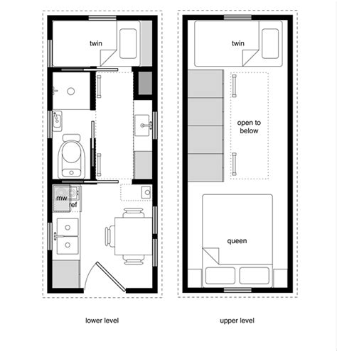 top tiny houses floor plans a sle from the book tiny house floor plans 8x20 tiny
