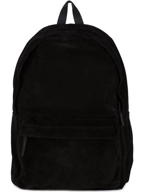 lyst demeulemeester suede backpack in black for