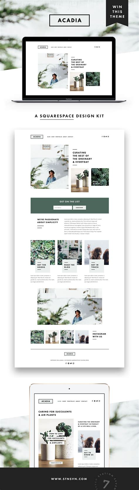 blog layout on squarespace acadia squarespace kit site design