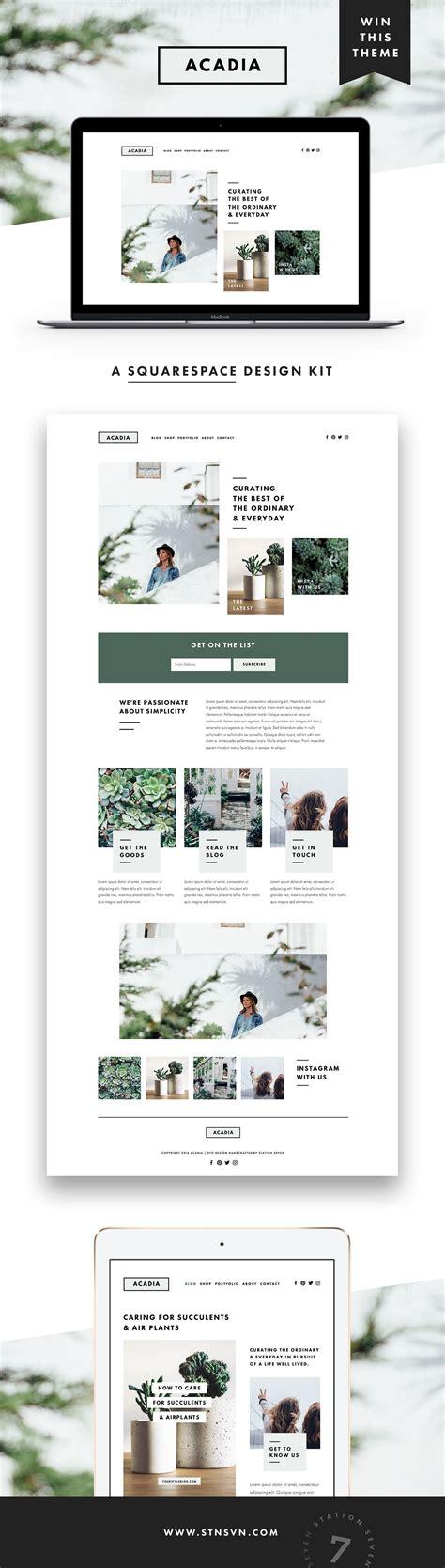 acadia squarespace kit site design