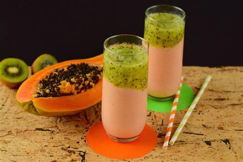 V Juice Apple Kiwi papaya kiwi smoothie desire to eat
