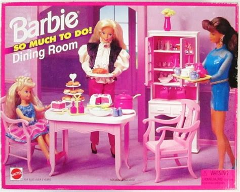 barbie dining room set barbie so much to do dining room playset 1995 new