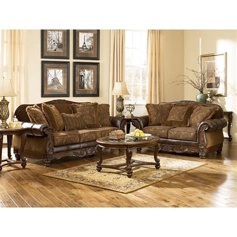 antique living room sets fresco durablend antique living room set signature