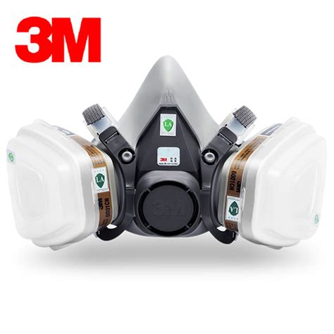 Baoweikang Masker Gas Respirator 3m 6200 half mask 6001 gas cartridges painting spraying mask against organic vapor