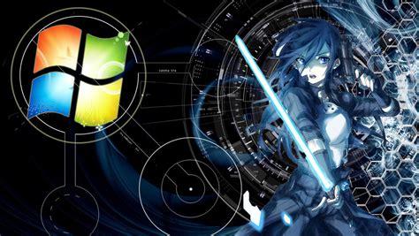 wallpaper anime windows 7 kirito ggo wallpaper for windows 7 edited by andri by