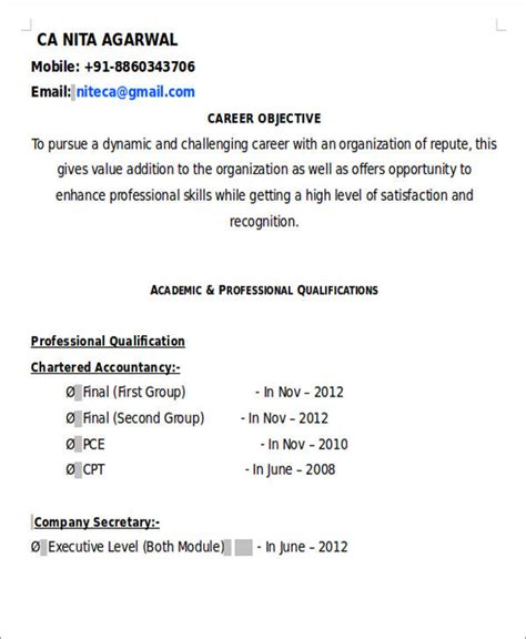 26 accountant resume format