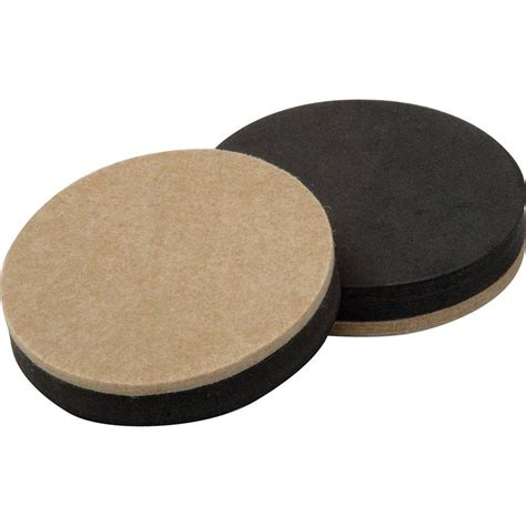 shepherd 3 1 2 in heavy duty felt slider pads 4 per pack