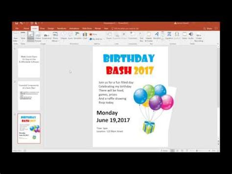 design flyer powerpoint tutorial make a flyer on powerpoint basic youtube