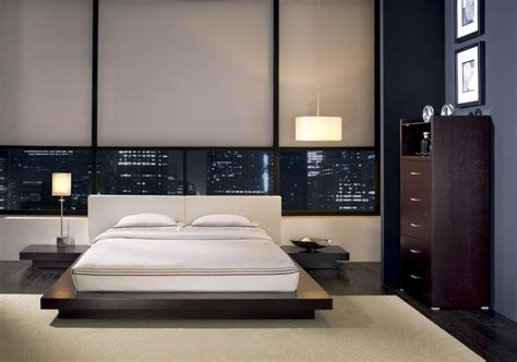 modern design style features of the bedroom interior in the modern style