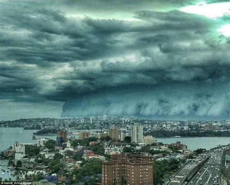 Shelf Cloud Sydney end of the world shelf clouds engulf sydney strange sounds